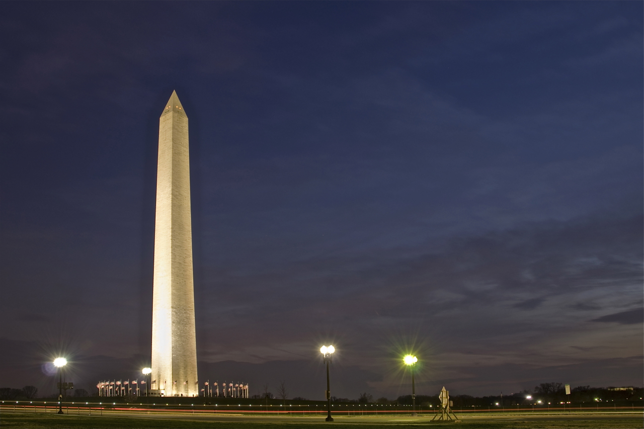 This photo makes a great desktop wallpaper. - Washington Monument PNG HD