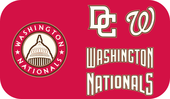 No neck piping or anything, just sleeves. The home match the off white from  the logo. The names and numbers match the scripts. Thats pretty much it - Washington Nationals Logo Vector PNG