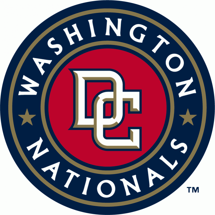 Washington Nationals Alternate Logo (2005) - Interlocking DC in white with  gold beveling and - Washington Nationals Logo Vector PNG