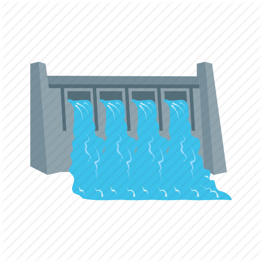 bridge, dam, hydro, plant, power, river, water icon - Water Dam PNG