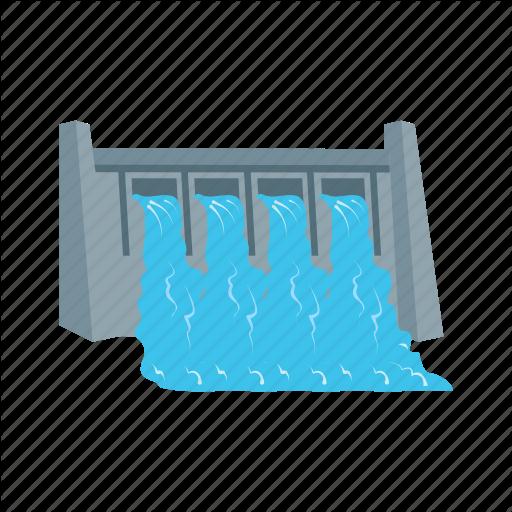 bridge, dam, hydro, plant, power, river, water icon - Water Dam PNG