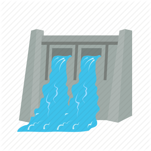 dam, electricity generation, energy, hydro, hydro electric, power, water  icon - Water Dam PNG