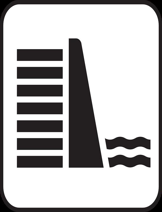 Dam, Water, Symbol, Reservoir, Wall, Hydroelectric - Water Dam PNG
