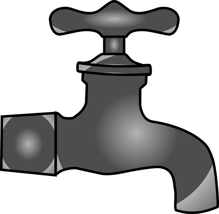 Water Faucet PNG Black And White