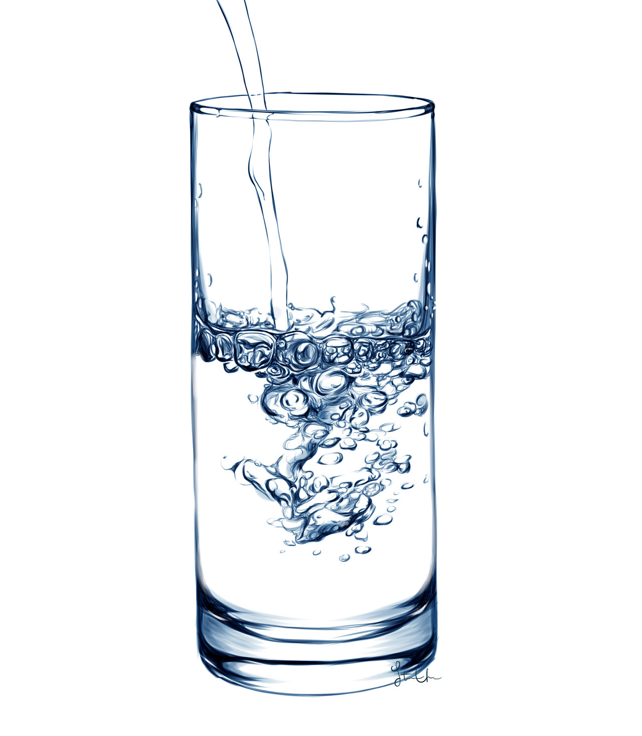 . PlusPng.com Digital Painting - Glass of Water by iSnowFairy - Water Glass HD PNG