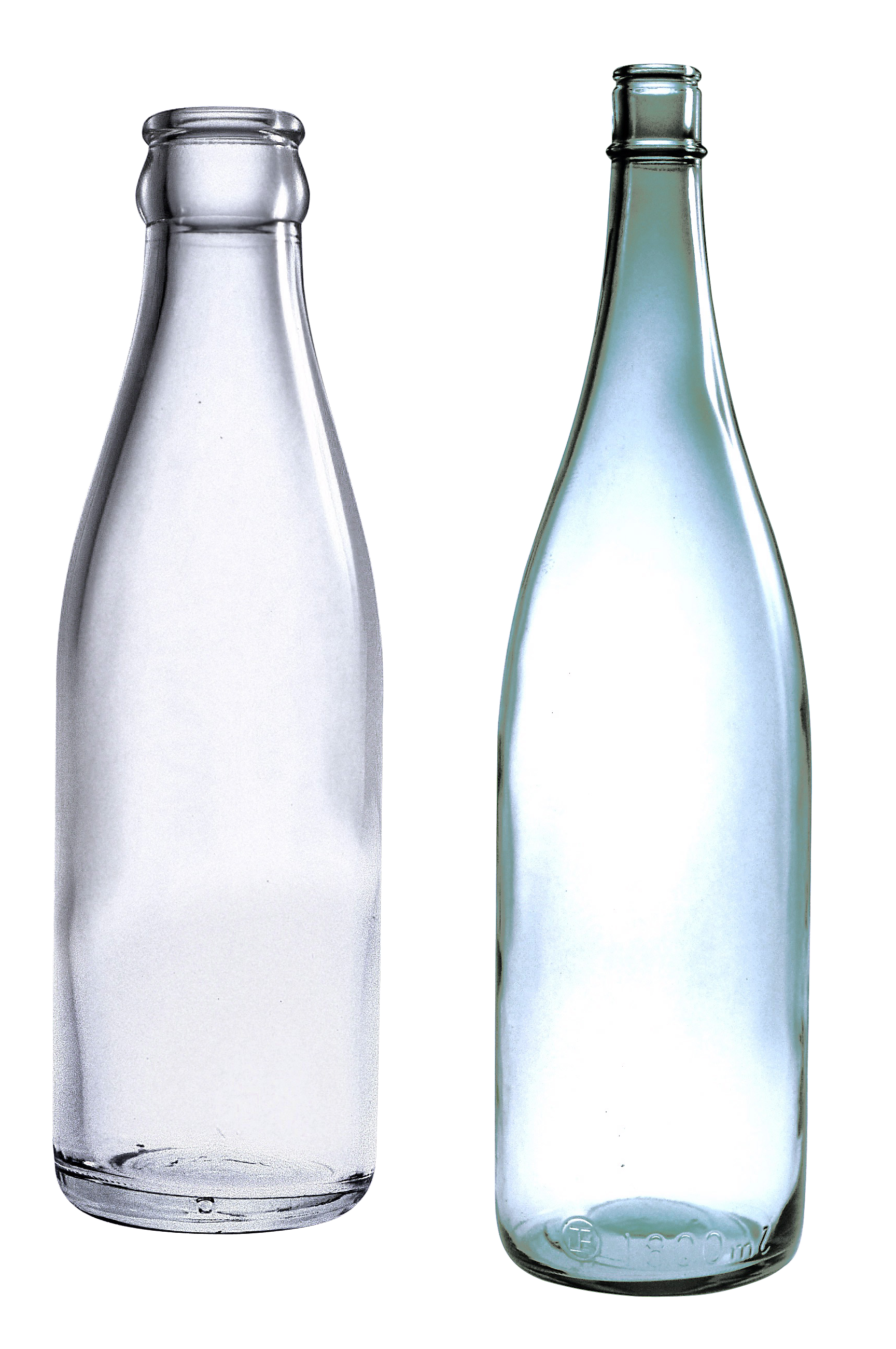 empty glass bottles PNG image - Water Glass HD PNG