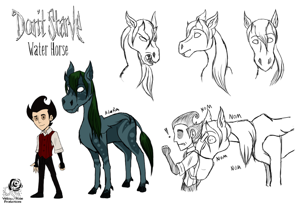 DS: Water Horse Concepts by Aileen-Rose PlusPng.com  - Water Horse PNG