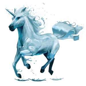 File:5th Element Unicorn - Water.png - Water Horse PNG
