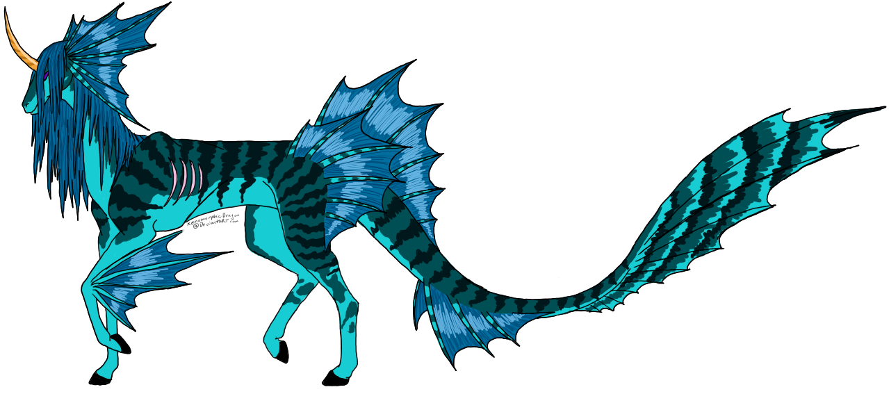 Water Horse:. by XenomorphicDragon . - Water Horse PNG
