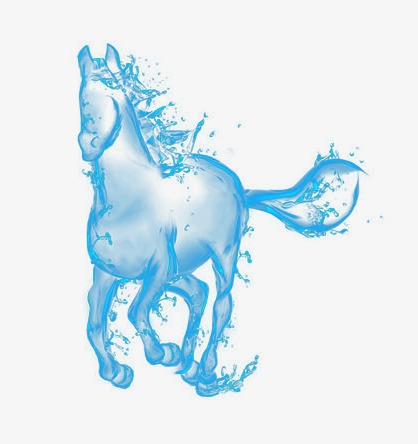 watermark horse, Blue, Water, Form PNG Image and Clipart - Water Horse PNG
