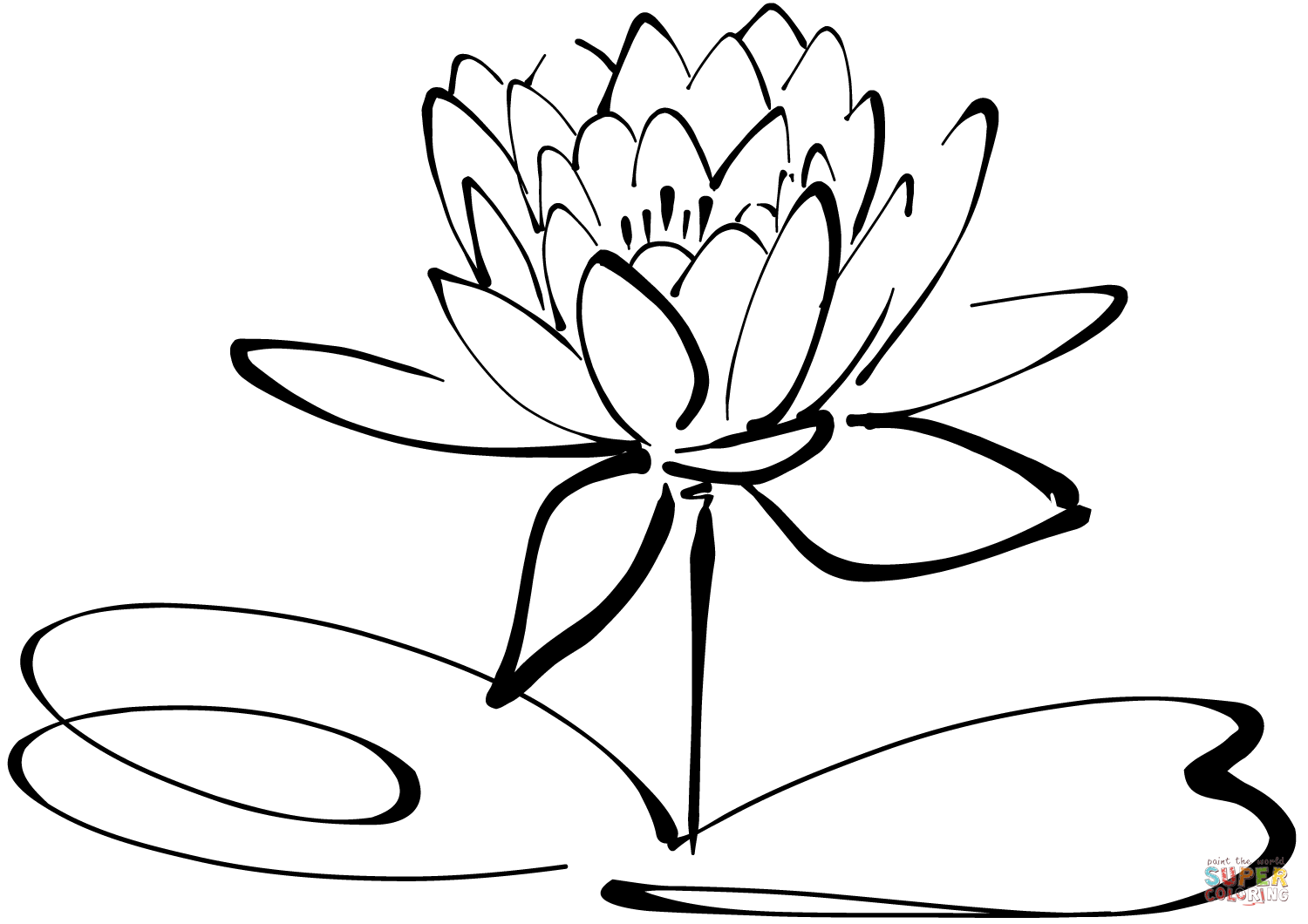 Click the Water Lily PlusPng.com  - Water Lily PNG Black And White