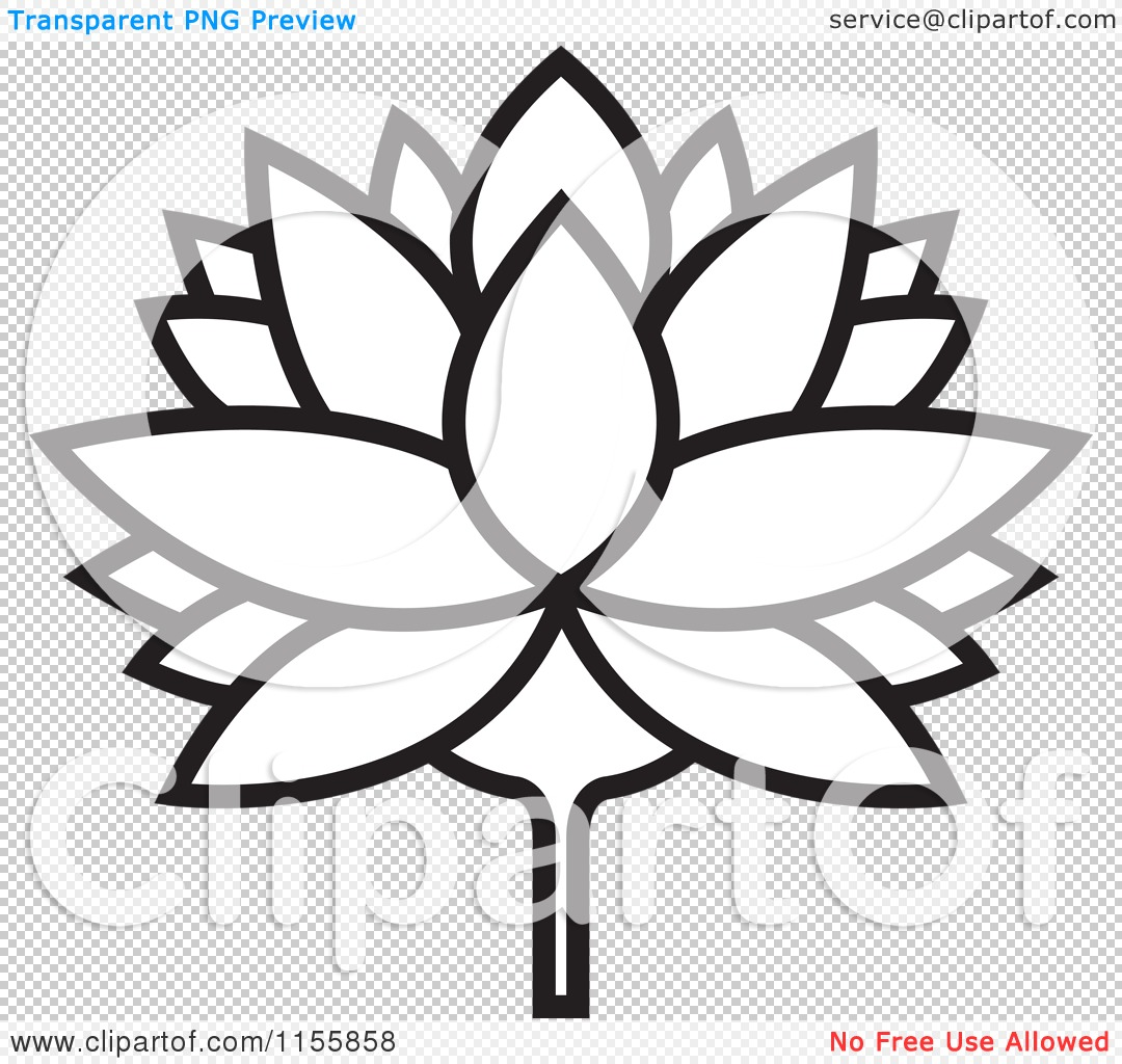 PNG file has a PlusPng.com  - Water Lily PNG Black And White