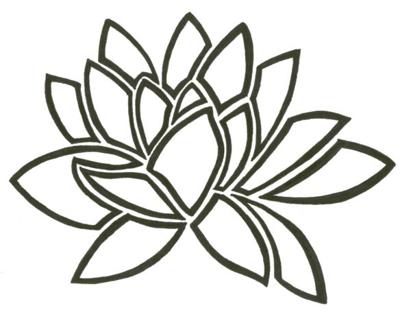 Water Lily Tribal by Tayeloquin on DeviantArt - Water Lily PNG Black And White