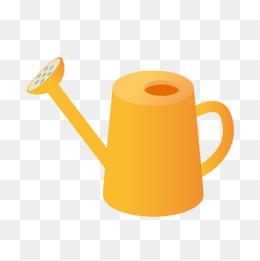 Cartoon yellow watering pot, Cartoon Watering Pot, Yellow Watering Pot,  Cartoon Gardening PNG - Watering Can PNG HD