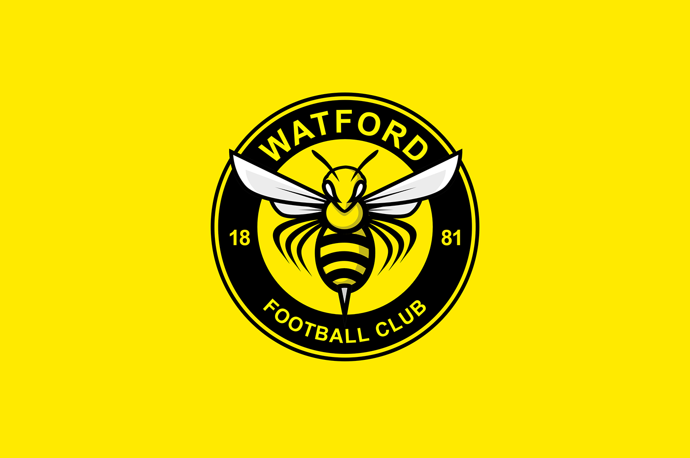 Unofficial rebrand of Watford FC centered on the concept of imagining a new  crest that matches the club nickname u0027The Hornets. This logo is not an  official PlusPng.com  - Watford Fc Logo PNG