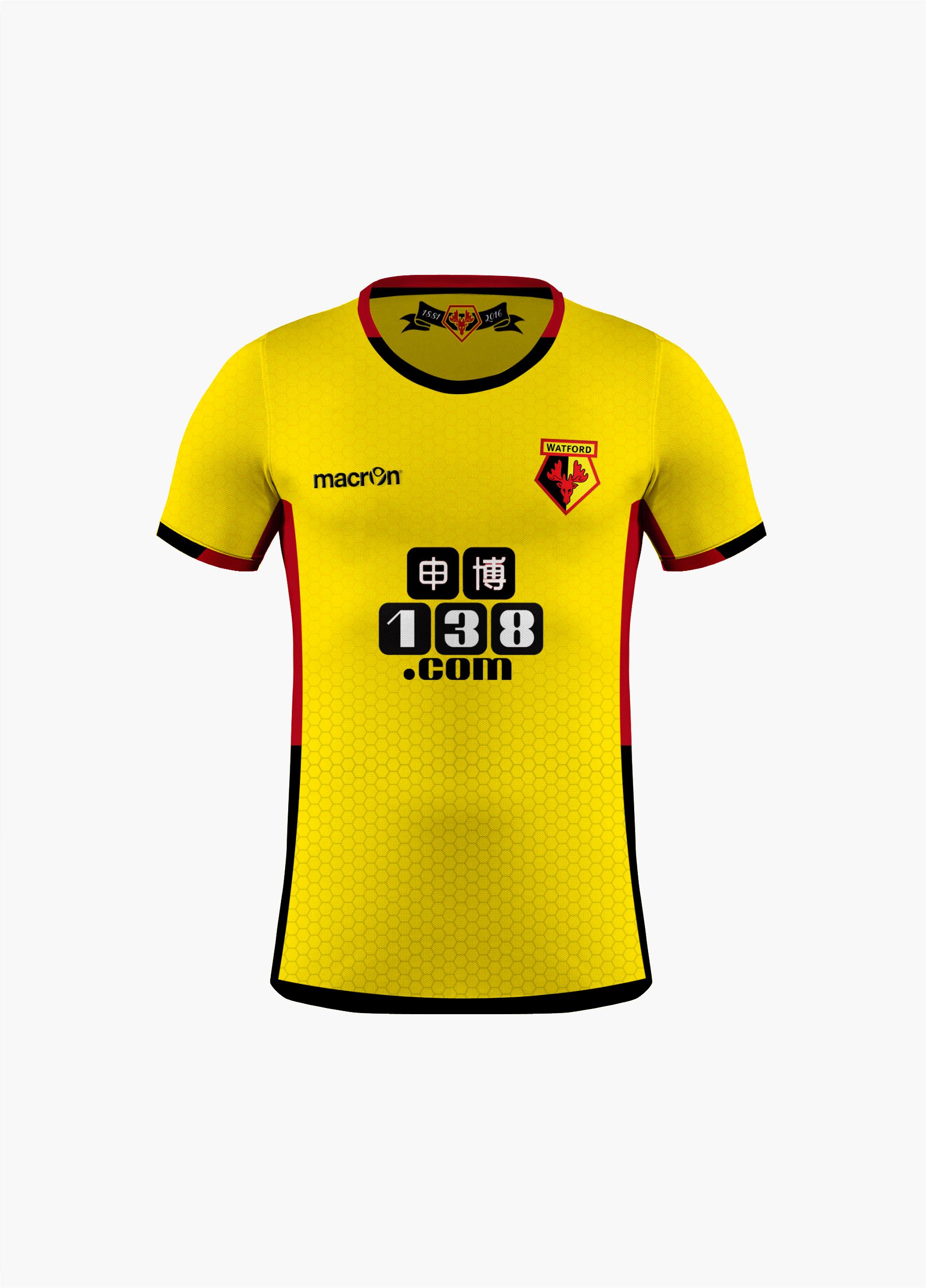 Watford FC - Macron Home Kit - Watford Fc PNG