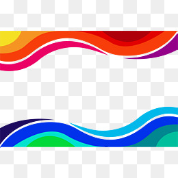 Red and blue wave border, Vector Png, Wave Border, Color Waves PNG and - Waves PNG HD Border