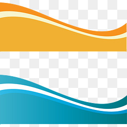 Vector dynamic wave, Orange, Blue, Creative Business Card PNG and Vector - Waves PNG HD Border