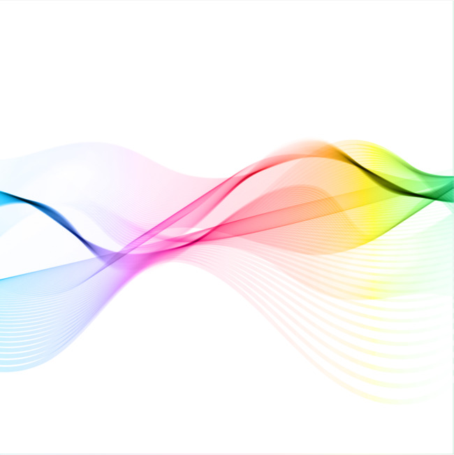 Vector rainbow sound wave curve PNG picture, Rainbow Color, Audio, Sound PNG  and - Waves PNG HD