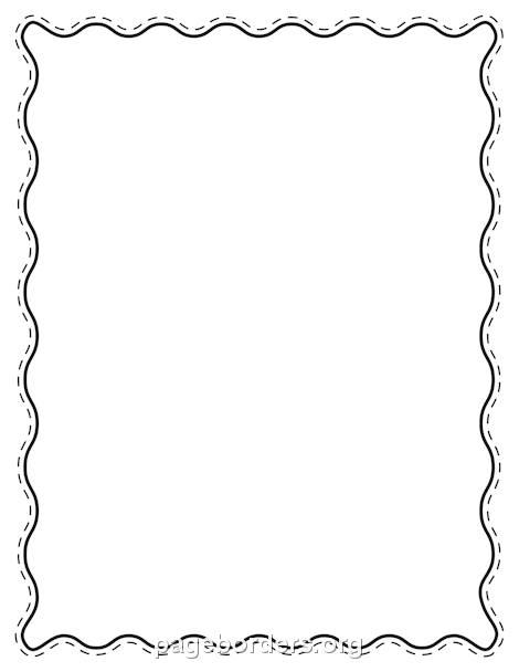 Wavy Line Border PNG - 166006