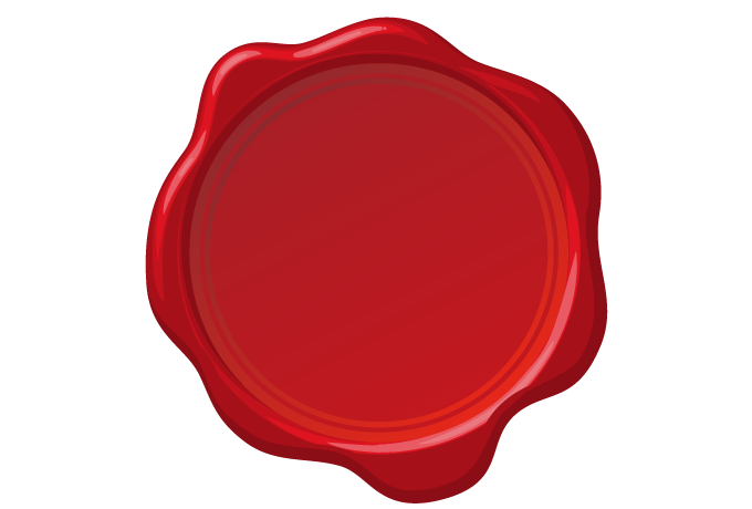 Frame No.00156 : red wax seal