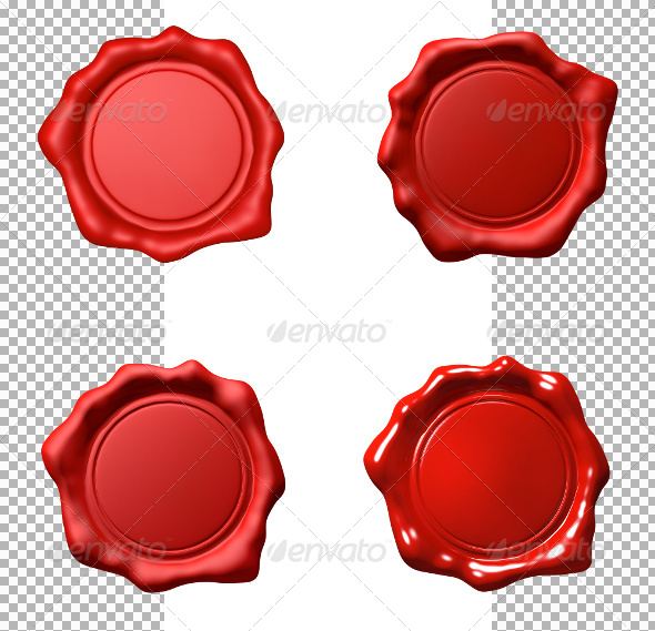 Red Wax Seal - Set - Objects
