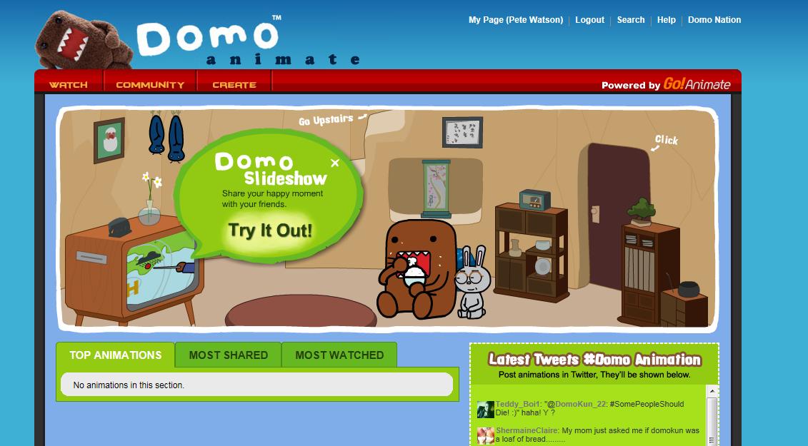 Domo Animate works in the sam
