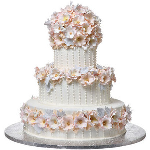Shop-A-Matic -- Wedding Cakes -- Lush Flower Cake - Wedding Cake HD PNG