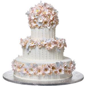 Shop-A-Matic -- Wedding Cakes -- Lush Flower Cake - Wedding Cake HD PNG