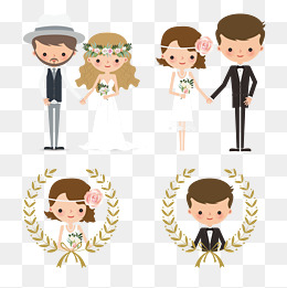 Creative Wedding Couple Figures, Character, Lovers, Wedding PNG And Vector - Wedding Couples PNG HD