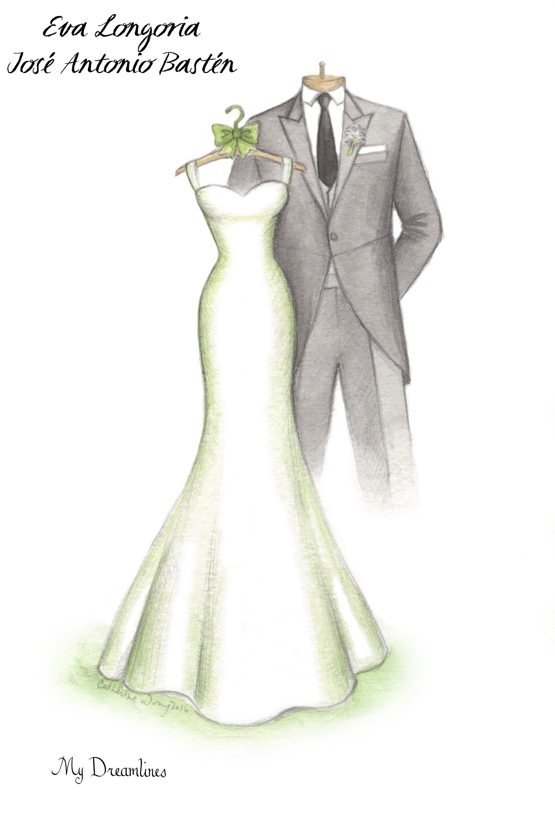 Wedding Dress And Tux PNG-Plu
