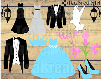 Wedding Dress And Tux PNG - 81305