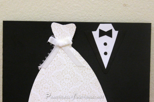 DIY Wedding Card - Wedding Dress And Tux PNG