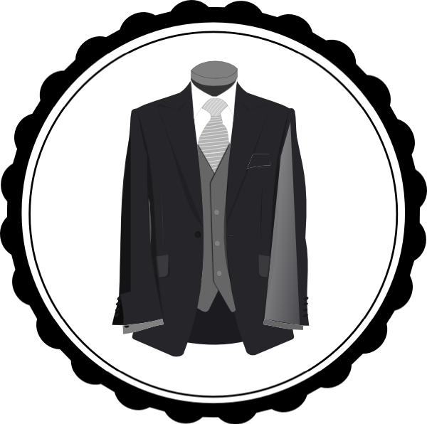 pin Black Dress clipart wedding suit #6 - Wedding Dress And Tux PNG
