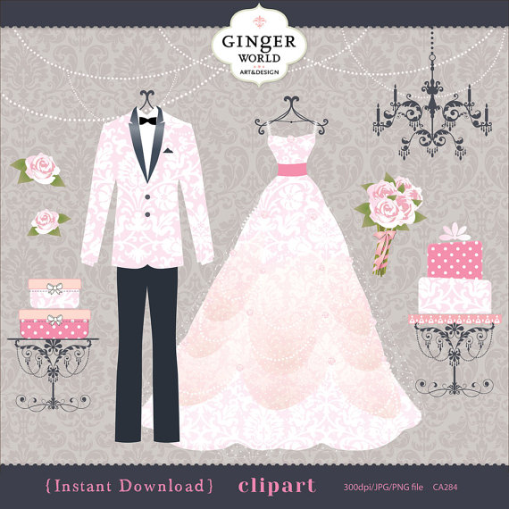 pin Gown clipart bride dress #11 - Wedding Dress And Tux PNG