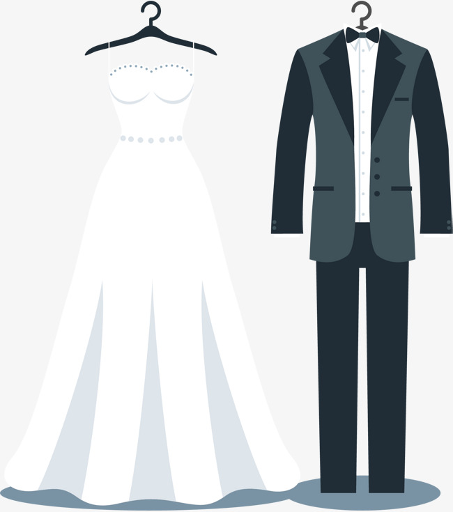 Wedding Dress And Tux PNG - 81309