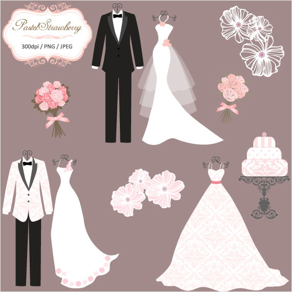 Wedding Dresses And Tux - Wedding Dress And Tux PNG