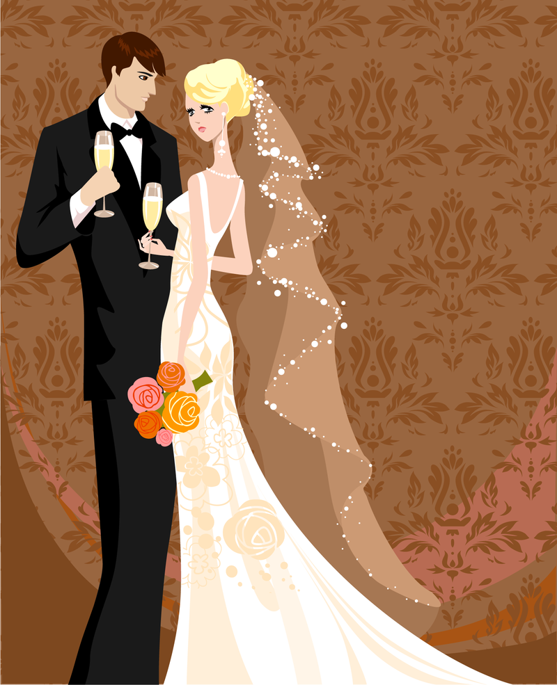 Wedding Card Background - Free Vector Download | Qvectors pluspng.com - Wedding HD PNG