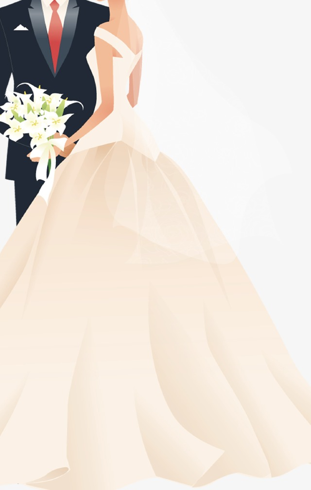 bride and groom, Bride And Groom, Love, Lily PNG Image - Wedding PNG Download