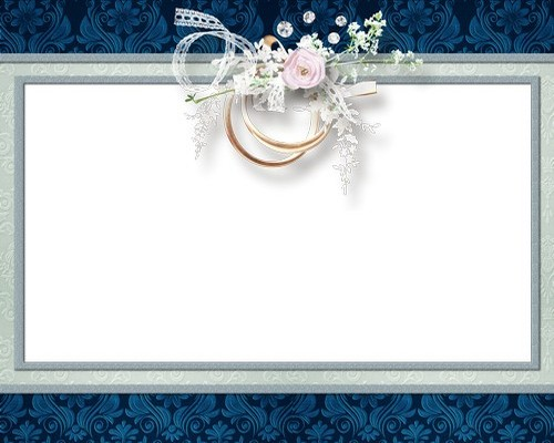 Weddings title frame, Wedding