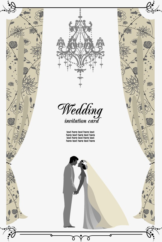 Vector wedding invitation, HD, Vector, Greeting Cards Free PNG and Vector - Wedding PNG HD Free Download