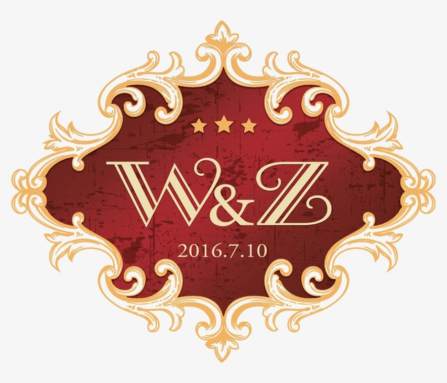 Wedding Logo Elements, Red, Marry, Wedding Free PNG And PSD - Wedding PNG HD Free Download