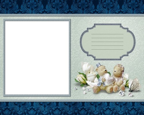 Template wedding photo book t