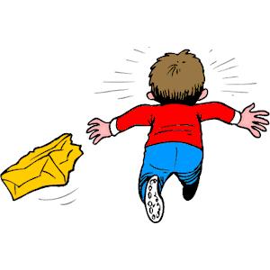 Cartoon Boy Running Away | Download PNG Download EPS Download ZIP Email  Bookmark Report - Weglaufen PNG
