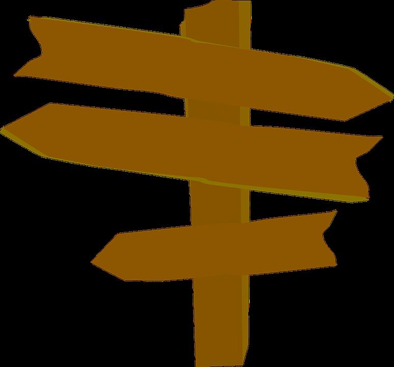 Wegweiser, Pfeile, Leere, Holz, Western - Wegweiser Holz PNG