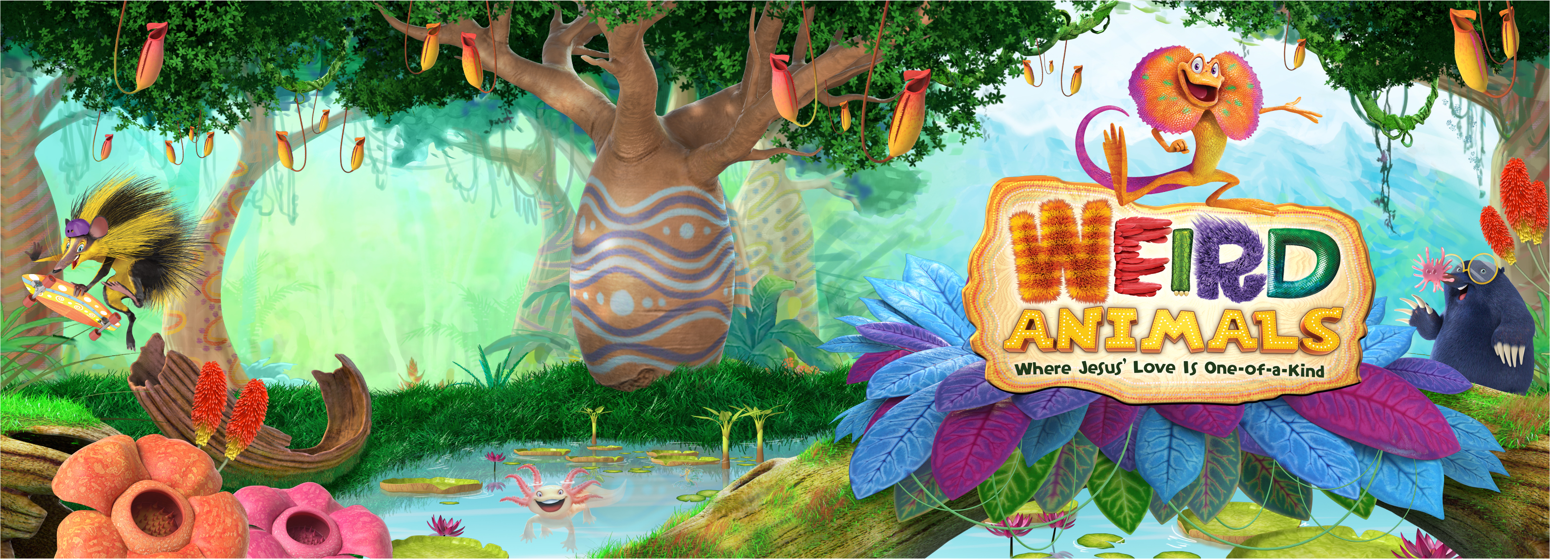 . PlusPng.com weird-animals-vbs-scene-art.jpg. - Weird Animals Vbs PNG