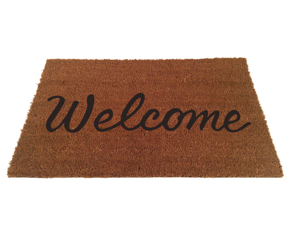 Welcome Script Doormat - Welcome Mat PNG