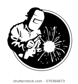 Logo welder black silhouette, vector line graphic - Welding PNG HD Free