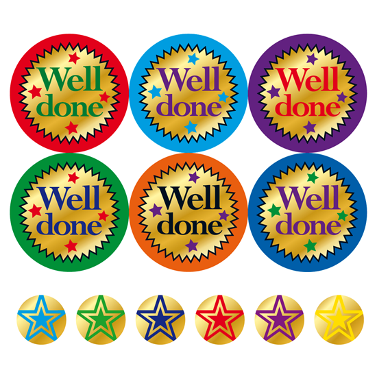 STICKERS - FOIL WELL DONE MW41.png PlusPng.com  - Well Done PNG HD