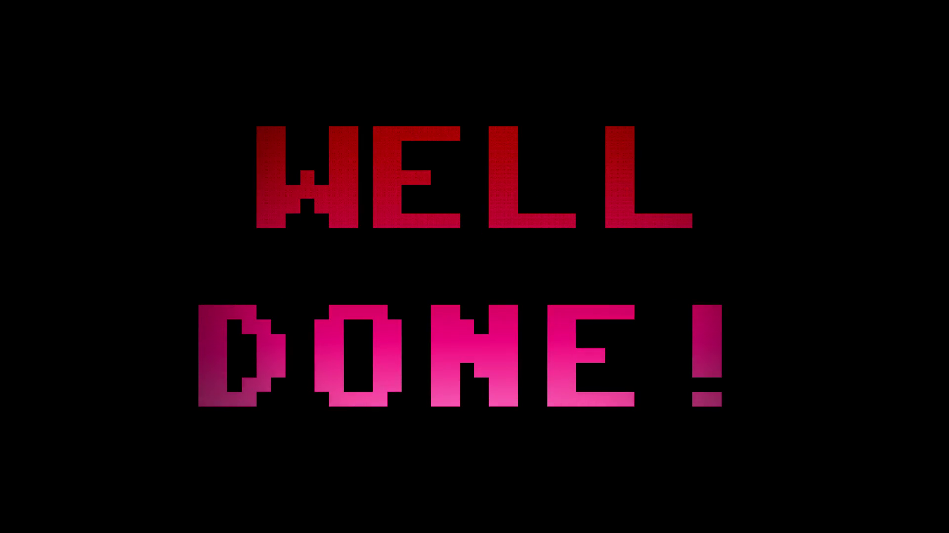 Videogame Well Done 4k. A videogame screen with the text Well done. 8 bit  retro style, 4k. Stock Video Footage - VideoBlocks - Well Done PNG HD